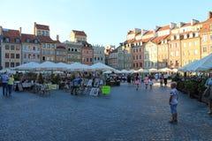 Stary kwadrat w dziejowym centrum Warszawski Polska fotografia stock