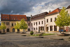 stary kwadratowego miasta Fotografia Royalty Free