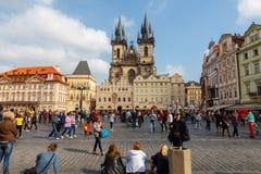 stary kwadratowego miasta Praga Fotografia Royalty Free