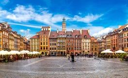 stary kwadratowego miasto Warsaw Obraz Royalty Free
