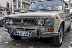 Stary Lada wystawiający na retro samochodowej paradzie Obrazy Royalty Free