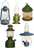 stary lampa set Zdjęcie Royalty Free