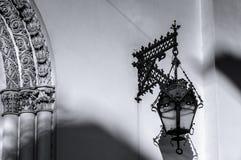 Stary lampion na ścianie Luterański kościół święty Peter i Paul kościół w St Petersburg (1838) Zdjęcia Stock