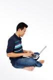 stary laptopów siedzieć obrazy royalty free