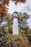 Stary latarni morskiej ` s budynek w Dennym ogródzie Varna, Bulgar Zdjęcie Stock