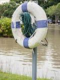 Stary lifebuoy dla ratownika save ludzi od dro Zdjęcia Royalty Free
