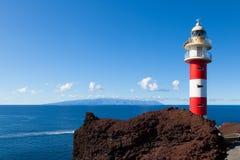 Stary Ligthouse w Punta Teno, Tenerife Zdjęcie Stock