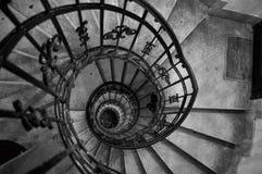 stary ślimakowaty schody Obraz Stock
