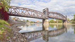 Stary linia kolejowa most w Magdeburskim, Niemcy zbiory wideo