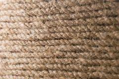 Stary linowy tekstura wzoru tło Brown szorstka materialna struktura silna nić Obrazy Royalty Free