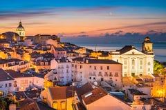 stary Lisbon miasteczko Portugal zdjęcia stock