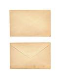 Stary list odizolowywający na bielu Obrazy Stock