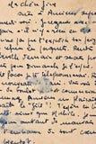 Stary list z rocznika handwriting fotografia stock