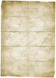 Stary listowy rocznika grunge papier Obraz Stock
