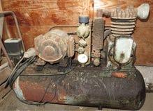 Stary lotniczy kompresor Zdjęcia Stock