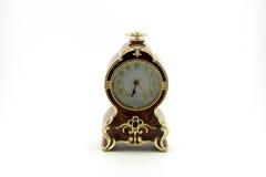 Stary luksusowy drewno zegar Zdjęcie Royalty Free