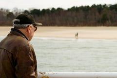 stary mężczyzna morze Obraz Royalty Free
