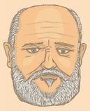 stary mężczyzna portret ilustracja wektor