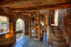 Stary Młyński wnętrze Zdjęcie Stock