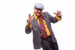 Stary męski piosenkarz Obraz Royalty Free