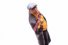 Stary męski piosenkarz Obrazy Royalty Free