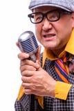 Stary męski piosenkarz Obraz Stock