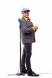 Stary męski piosenkarz Fotografia Royalty Free