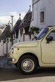 Stary mały samochód w Villiage Fotografia Stock