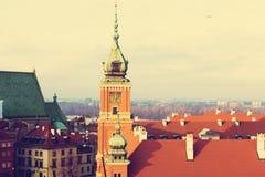stary magiczny przeszłości Poland ulicami miasta Warsaw zdjęcie stock