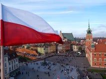 stary magiczny przeszłości Poland ulicami miasta Warsaw Zdjęcie Royalty Free