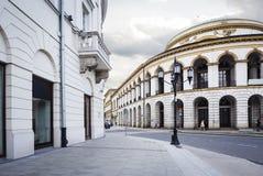 stary magiczny przeszłości Poland ulicami miasta Warsaw Zdjęcia Royalty Free