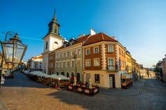 stary magiczny przeszłości Poland ulicami miasta Warsaw Obrazy Royalty Free