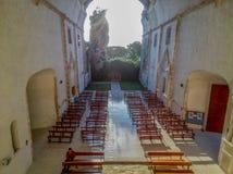 Stary majski kościół niszczy obraz royalty free