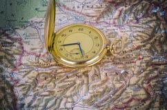 stary mapa zegarek Obraz Stock