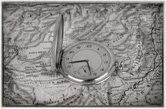 stary mapa zegarek Zdjęcie Stock