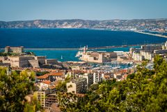 stary Marseille port Obraz Royalty Free