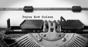 Stary maszyna do pisania nowa gwinea - Papua - Zdjęcie Royalty Free