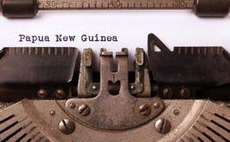 Stary maszyna do pisania nowa gwinea - Papua - Zdjęcie Stock