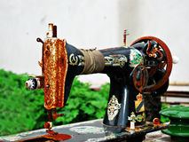 stary maszynowy szyć Zdjęcie Stock