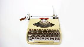 Stary maszynowy writing Zdjęcie Royalty Free