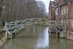 Stary matematycznie most w Cambridge, Anglia zdjęcia royalty free
