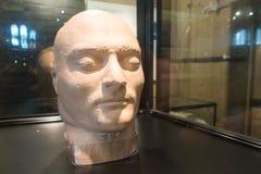 Stary Melbourne Gaol - Ned Kelly śmiertelna maska zdjęcie royalty free