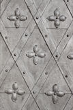 Stary metalu drzwi z ornamentem Zdjęcia Stock