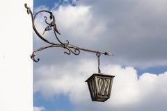 Stary metalu lamppost Zdjęcia Stock