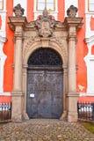 Stary metalu monasteru drzwi przy Broumov monasterem, Czechia Zdjęcie Royalty Free