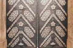 Stary metalu ornament na metalu drzwi w Europe stylu Fotografia Stock