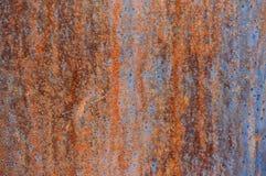 Stary metalu prześcieradło żelazo z zrudziałym Abstrakcjonistycznym tłem zdjęcie royalty free