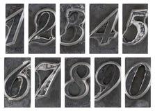 Stary metalu typ liczba Obraz Stock