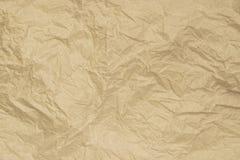 Stary miękki brown zmięty papierowy abstrakcjonistyczny tekstury tło Zdjęcia Royalty Free
