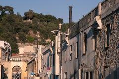 Stary miasteczko Ładny, Francja Zdjęcia Royalty Free